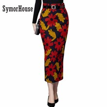 Buy S-2XL Newest Autumn Winter Style 2017 Women Skirt Plus Size Slim Skirt Long skirt Woolen Skirt High Waist Prints Pencil Skirts for $23.40 in AliExpress store