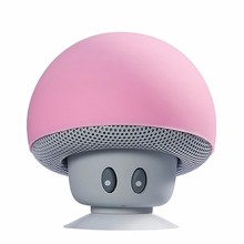 wholesale-Creative Small USB Gadgets Functional Portable Mushroom Hands free Wireless Bluetooth USB Speaker and phone stand hold(China)