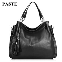 2017 Hot Women's Handbag Fashion Vintage Cowhide Portable Women's One Shoulder Bags Genuine Leather Tassel Handbag Messenger bag
