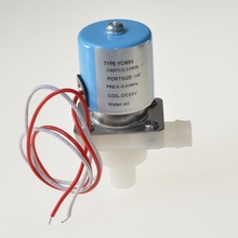 Normally Closed elbow 12.5mm OD  PP Plastic Electric   Solenoid  Valve 24V for Water