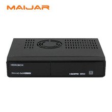 High quality HEROBOX EX4 HD decoder DVB-S2+C/T2 with BCM7362 751MHZ Dual-core equipped wifi and fan support openpli blackhole