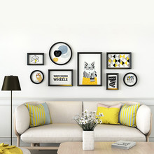 Collage Frames Modern Simple Sofa Background Decorative Wall European Style Picture Frame Plastic Photo Frames For Family