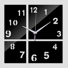 2017 new rushed home decor  living room quartz acrylic modern design luxury mirror wall clocks 3d watches stickers
