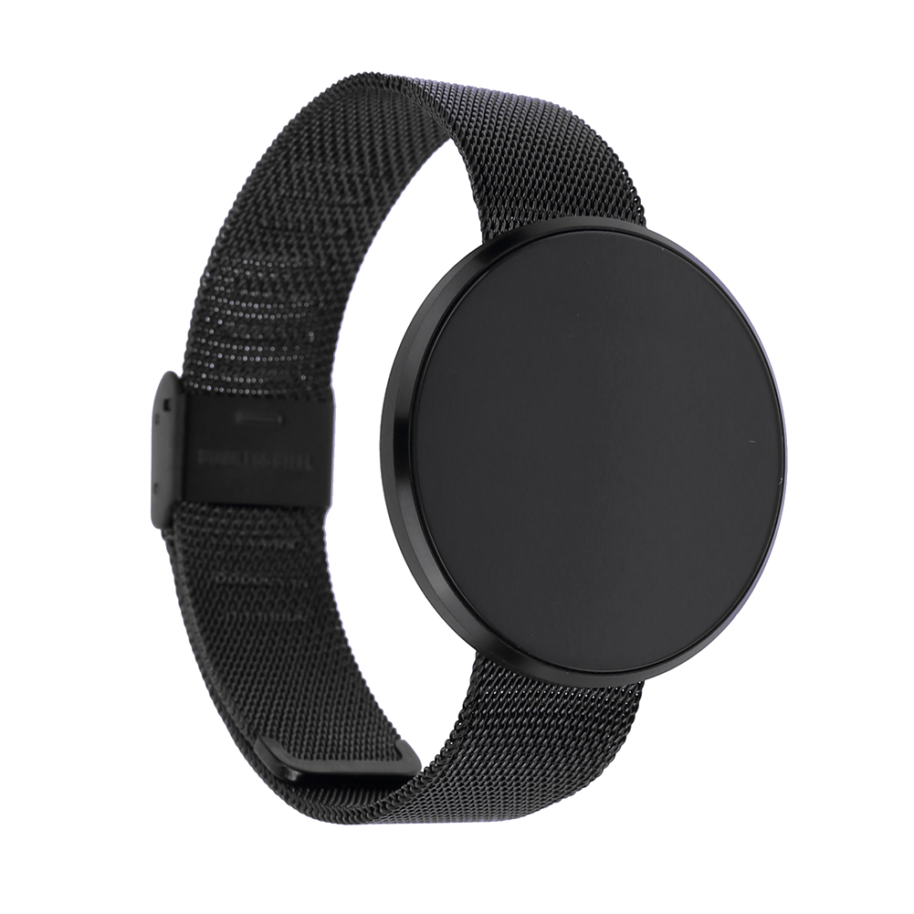Bluetooth 4.0 Blood Pressure Wristbands Pedometer Heart Rate Monitor Smart Watch with Touch Screen Steel Belt for Android iOS