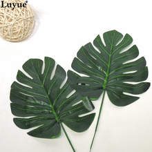 Luyue Official Store Artificial Plants DIY Leaves Tree 2017 Hot Selling New Design Garden leaves Home Wedding Decoration 36cm(China)
