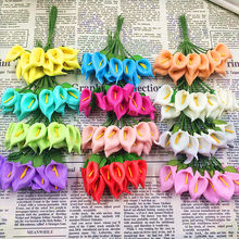 144 PCS (2.5 cm/a) simulation artificial PE foam calla lily flowers/wedding decoration DIY gift boxes collage craft supplies