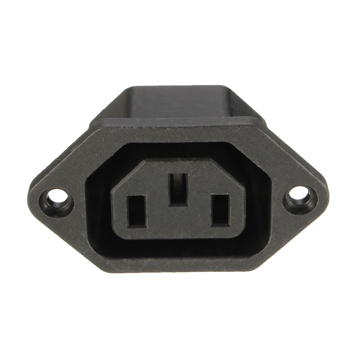 NEW 10pcs Chassis Female 15A//250V AC IEC Inline Socket Plug Adapter Mains Powe