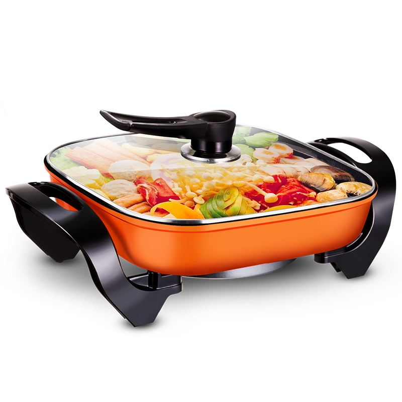 Free shipping Household multifunctional electric Hot pot Nonstick Frying Pan Korean skillet Multi Cookers Electric Skillets<br><br>Aliexpress