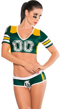 Sexy Fantasy Football Costume soccer baby football girl sexy short shorts V-neck cheerleaders team sets Sports Sets