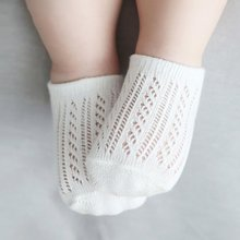 Summer Newborn Baby Solid Hollow Out Socks Toddler Boy Girl Soft Sock Kids Socks 0-3 Y