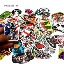 Fashion cool 50-100 pcs PVC stickers for Travel Suitcase Wall Pencil Box Bike Phone Sliding Plate of mixed graffiti Styling(China)