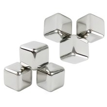 10 pcs/lot Newest Whiskey Stainless steel Stones Whisky ice cooler for Whiskey beer Bar household Wedding Gift Favor Christmas