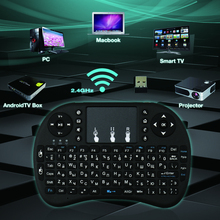 Zoweetek 2.4G RF  Russian Wireless Keyboard Touch Pad mouse Backlit gaming Keybord for HTPC, Tablet, Laptop, PC