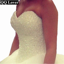 Buy QQ Lover 2018 Bling Bling Shining Crystals Ball Gown Wedding Dress Custom-made Bridal Gown Robe De Mariage Vestido De Noiva for $78.75 in AliExpress store