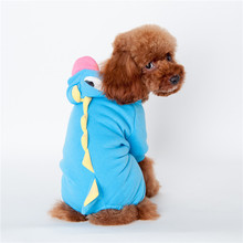 Pet supplies Dogs clothing Puppy Cat Cute Dinosaur Pretty pet Hoodies Costumes Clothes Apparel T shirt fleece pet dog clothes