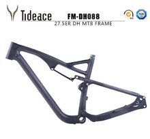 Tideace Free Shipping 27.5er Full Suspension Frame MTB Bicycle Carbon Frames 650B 142*12 Thru Axle disc brake Mountain frame(China)