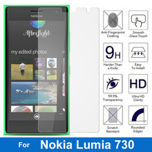 9H Hardness Nano-coated Tempered Glass Screen Protector Protective Film For Microsoft Nokia Lumia 735 730 4G Lte Dual Sim N730