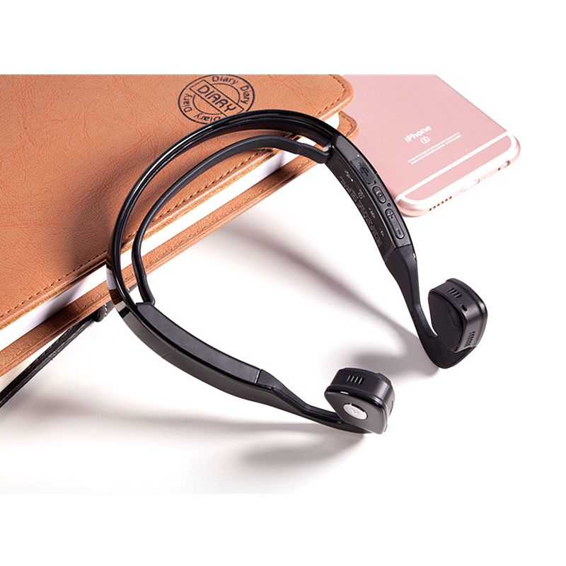 S WindShear Bone Conduction Wireless Bluetooth Headset Outdoor Sports Headphone Earphone Hands-free with Mic for Smart Phones Ta<br>