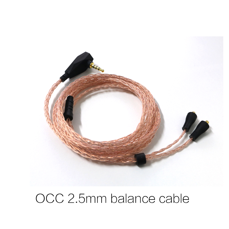 VSONIC OCC cable interchangeable earphone cables for GR07/GR09 3.5mm 2.5mm