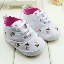 Baby Shoes Toddler Girl Walking Shoes White Lace Embroidered Soft Shoes Prewalker S01(China)