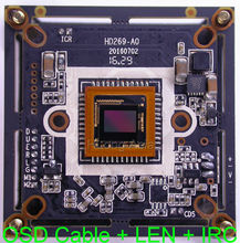 "AHD 3MP ( 3.0MP 2304 x 1296 )1/3"" Aptina CMOS AR0330 NVP2470 DSP CCTV board camera module PCB with OSD cable + CS 3MP LEN + IRC"