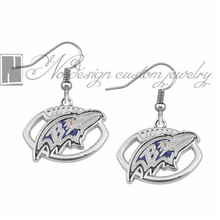 Baltimore ravens Enamel Earrings Rugby  Team Fans Dangle Earrings NE0684