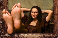 wallhaven humor art Mona Lisa feet Home Decoration Canvas Poster Print(China)