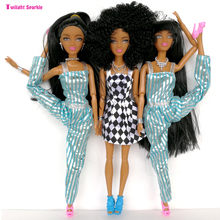 New cheap plastic Dolls Factory Direct selling Series Black Long hair special price Black skin high doll Wildcurl up Long legged