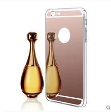 new Luxury Plating Mirror TPU Silicon Frame Case For iphone 5 5S SE 6 6S 6 6S Plus Cover Soft Acrylic Back Phone Bag Case(China)
