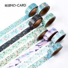 New 7M Length Cute Colorful Plants Masking Washi Tape Decorative Adhesive Tape Decor Diy Scrapbooking Sticker Label Stationery