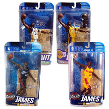 NBA Super Star 29cm players James and Kobe Slam Dunk Action Figure PVC Model Toys Collectible Doll