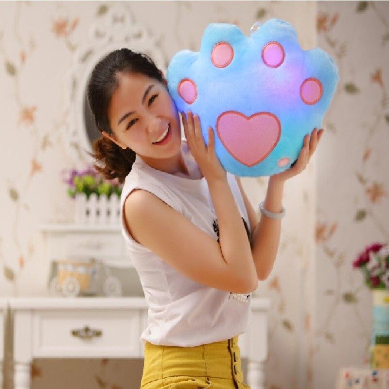 Kawaii Panda Paw Luminous Pillow Toys Juguetes Glow in the Drak Led Light Pillow Stuffed Toys Doll Plush Pillow Christmas Gift<br><br>Aliexpress