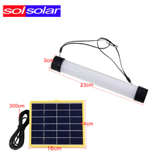 SOLSOLAR 3W Multifunctional Solar Power LED Tube Lamp USB Rechargeable Solar Instructions Solar Panel for Outdoor Camp Portable