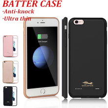 6 6s plus Ultra Thin Battery Case For iphone 6 6s plus 2500/3700mAh External Backup Battery Charger Case For iphone 7 7 plus(China)