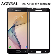 Buy AGREAL Full Cover Tempered Glass Samsung Galaxy S6 S7 J5 J7 Prime Note 4 5 Galaxy A3 A5 A7 2016 2017 Screen Protector Film for $1.42 in AliExpress store