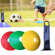10Pcs Football Training Accessories Plastic Marker Discs Flexible Soccer Obstacle Cone Cross Roadblocks Multicolor(China)