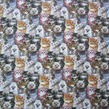 Width 105cm Cartoon Cats Fabric 100% Cotton Fabric Cats Printed Fabric Patchwork Sewing Material For Diy Dress Baby Clothing
