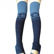 1 Pair Cute Lovely Winter Warm Snowflake Thigh High Leg Warmers Long Soft Over Knee Knitted Stockings Boot Cuff