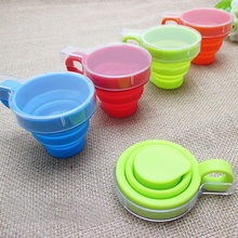 Hot Selling Brand New Portable Outdoor Travel Silicone Retractable Folding Water Mugs Telescopic Collapsible Drinking Cup