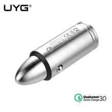 UYG QC 3.0 car charger with USB Cable Mini USB quick Charger for iphone samsung huawei LG tablet PC vehicle traveling recorder