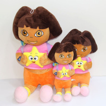 Dora Plush Doll Children's Toys Dolls Gifts Cartoon Plush Dolls(China)
