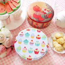 1x 6inch medium Handmade cookie/candy cake box candy iron receive storage box wedding favor tin Gift box container Free shipping