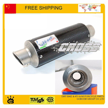 Modified leovince exhaust motorcycle exhaust pipe CBR YZF GY6 Scooter 250cc motorbike 51mm muffler tubo escape moto accessories(China)