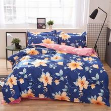 Ocean of Flowers Bedding Set Floral Duvet Cover Set Bed Sheet Pillowcases housse de couette Single Twin Full Queen King