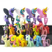 16pcs/set Princess Celestia Princess Luna Cartoon Pets Horse Unicorn Action Toy Figures Christmas Little Gift