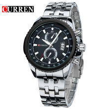 Curren Watch Men Fashion Casual Wristwatch Curren Business Men Military Date Display Stainless Stell Analog Relojes 8082(China)