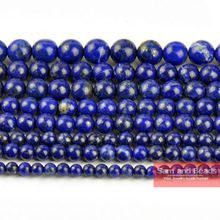"Wholesale Natural Stone Lapis Lazuli Round Loose Beads 15"" Strand 4 6 8 10 12 14MM Pick Size DIY Necklace Bracelet LLB01"