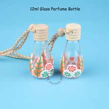 30pcs/Lot High Quality Glass 12ml Perfume Bottle 2/5 Ounce Chinese Style Women Makeup Vial Essential Oil Pot with Wooden Cap(China)