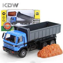KDW 1:50 Scale Metal Dump Truck Toys Trailer Truck Toys for Children Boys Education Engineering Vehicles Diecast Car Models DIY