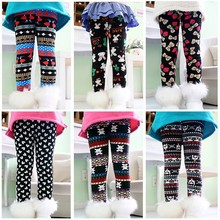 Cute character winter autumn girls pants leggings warm pants thick casual children pants